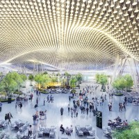 The Taoyuan Airport Terminal 3 design (by Rogers Stirk Harbour + Partners).