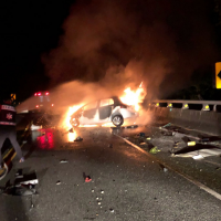 Fiery crash in southern Taiwan results in one death