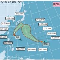 【更新】又見雙颱!「浣熊」後面緊跟著「博羅依」颱風