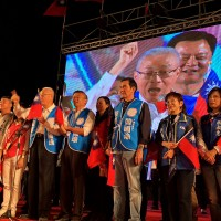KMT presidential candidate nearly hit by eggs at southern Taiwan rally