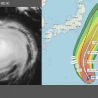 強颱「博羅依」(左)路徑呈大迴轉特徵(右) (圖/「三立準氣象·老大洩天機」)