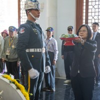 Tsai attends memorial to historic victory on Taiwan's outlying island Kinmen