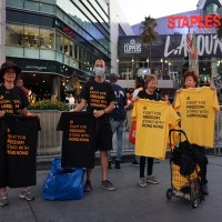 Pro-Hong Kong T-shirts distributed at NBA games