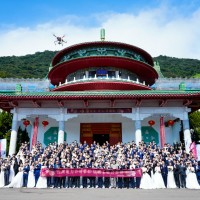 90 newlyweds at Taipower's group wedding in Taipei