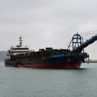 Another Chinese ship caught stealing sand from Taiwanese waters