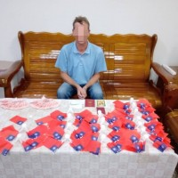 Russian tourist caught hawking Taiwan flags