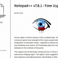 Taiwan app developer releases 'Free Uyghur' edition