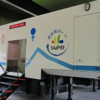 Mobile toilets now available at 3 Taipei night markets