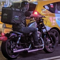 Photo of the Day: Uber Eats driver seen on Harley in Taipei