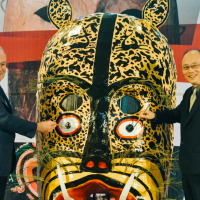 Taiwan's National Palace Musuem unveils world mask exhibition at Chiayi branch