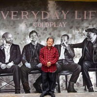 Taiwan artist creates mural of new Coldplay album