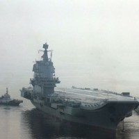 China's first homemade aircraft carrier sails through Taiwan Strait