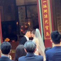Taiwan supermodel Lin Chi-ling ties knot in Tainan