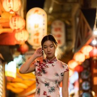 Rachel Au in Jiufen. (Photo by Amaris Woo)
