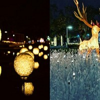Christmas lights in S. Taiwan charm thousands