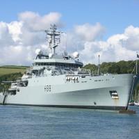 British Royal Navy ship sails through Taiwan Strait