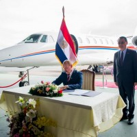 Taiwan donates airplane to Paraguay