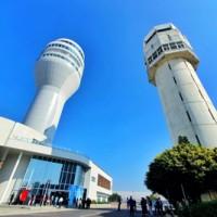 台灣桃園國際機場新塔台啟用 女王頭造型守護國門