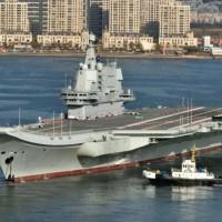 Taiwan tracks Chinese aircraft carrier through Taiwan Strait