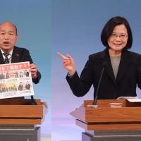 【總統辯論會】國家路線 蔡批韓簽「無色覺醒」 韓指蔡倡「一個中國」