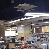 Video shows New Taipei office lights sway wildly during magnitude 6.1 earthquake