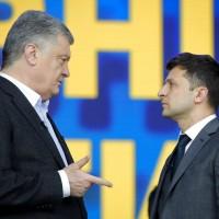烏克蘭大選辯論 億萬富翁喜劇演員槓上現任總統