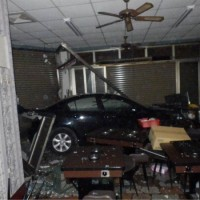 Car careens into hotpot shop in W. Taiwan