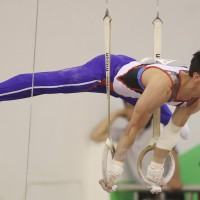 Gymnast Lee Chih-kai shows off his all-round skills