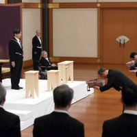Japanese emperor Naruhito inherits regalia marking start of Reiwa imperial era