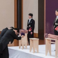 New Emperor of Japan pledges to promote peace, and 'act in accordance with Constitution'