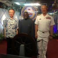 我敦睦艦隊訪索羅門 索國總理登艦展現友台情誼
