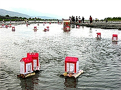 Taiwan temple's floating lanterns are now environmentally friendly