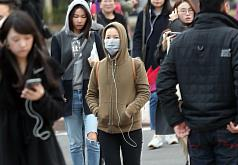 Temperatures in N. Taiwan dip to 8.6 degrees C on Sunday