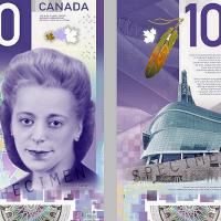 宣揚人權 加拿大10元鈔獲最佳設計獎
