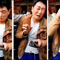 Video shows China unification supporters assault Taiwanese actor for flipping them off