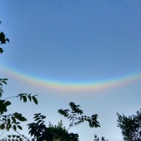 'Upside-down rainbow' spotted in central Taiwan