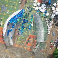 愛地球!高雄愛河出現超巨大鯨魚 美國建築設計製程搶先看