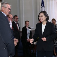 Taiwan President pitches trade pact in meeting with U.S. think tank visitors