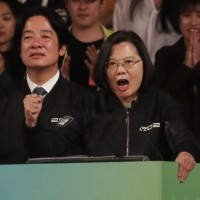Vice President William Lai (left), President Tsai Ing-wen (right).