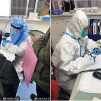 中國有網友PO出了據稱是21日武漢門診的照片(圖/「暴躁的顏值」微博)