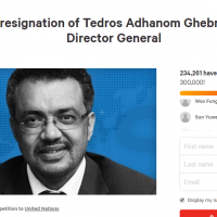 Petition demanding resignation of WHO head nears quarter-million signatures