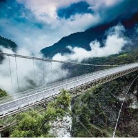 Mountain-Moon Bridge at Taiwan's Taroko Gorge set to open