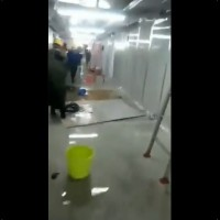 Video shows interior of new Wuhan hospital badly leaking water
