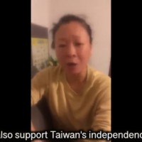 Video shows Chinese woman call for Taiwan independence, denounce CCP