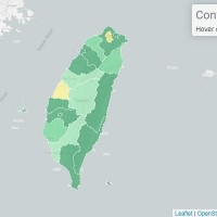 Map shows location of Wuhan coronavirus cases in Taiwan