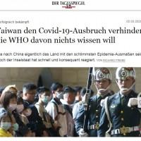 German newspaper lauds Taiwan's handling of Wuhan coronavirus