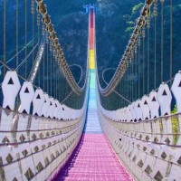 Photo of the Day: New rainbow bridge in Nantou, Taiwan