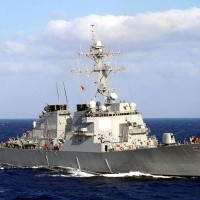 US Navy fires missile during South China Sea military drill