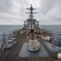 US Navy ship sails through Taiwan Strait