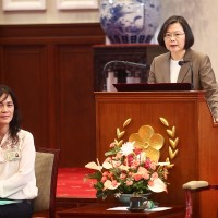 Taiwan's president acknowledges dedication of frontline medical staff